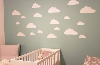 Babykamer Muurdecoratie Ideeen : Wolken wolkjes cloud clouds muurstickers wandstickers babykamer