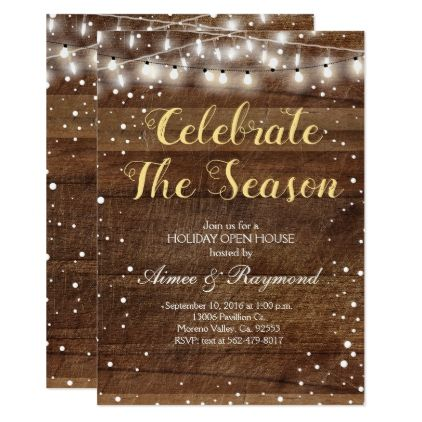 Photo of Rustic Snow Christmas Invitation | Zazzle.com