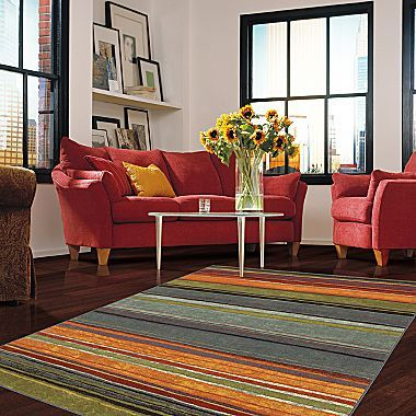 Rainbow Stripe Washable Area Rugs Jcpenney