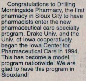 Drilling Pharmacy Featured In The Sioux City Journal City Journal Sioux City Pharmacy