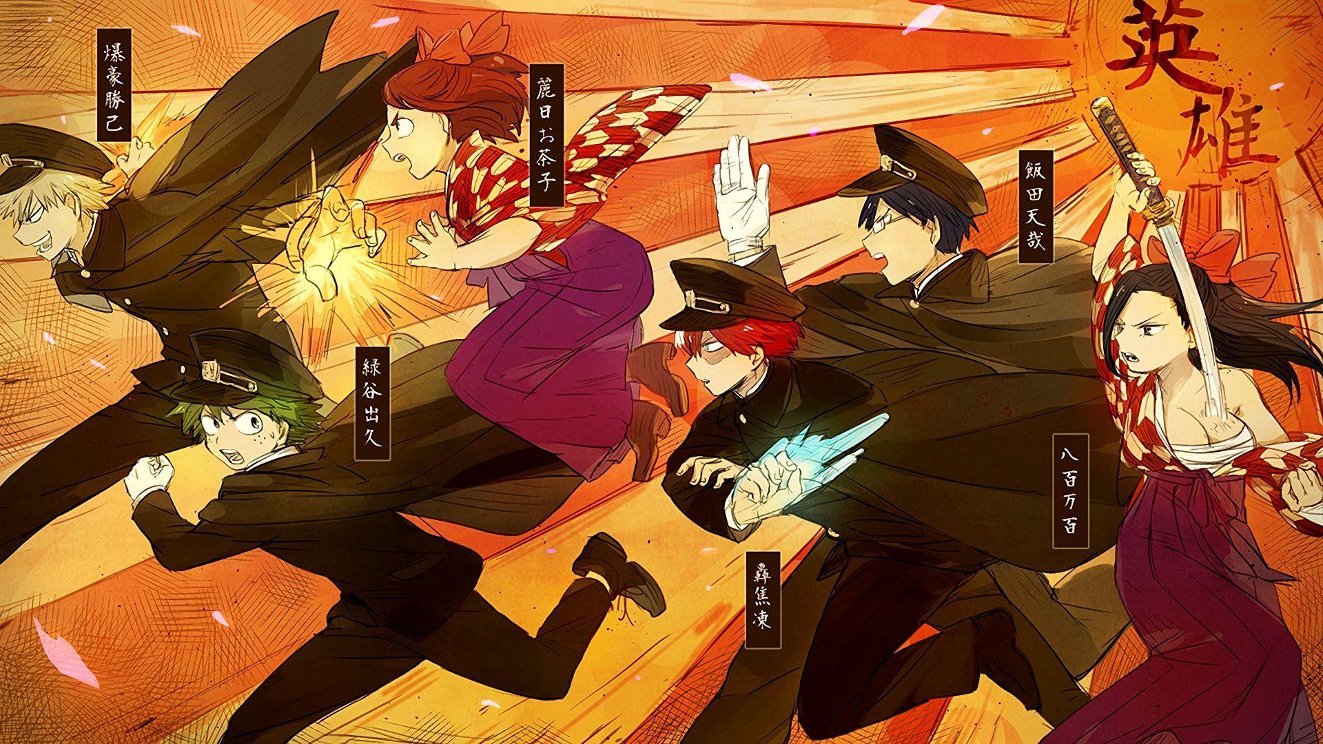 Anime My Hero Academia Izuku Midoriya Ochako Uraraka Katsuki Bakugou