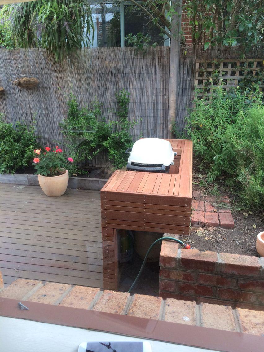Weber q BBQ deck | Plan to Build | Pinterest | Garten möbel, Garten ...