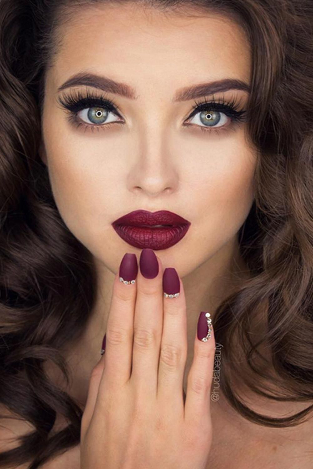 Teeth Nails Wedding Makeup Red Lips Best Photos Wedding Make