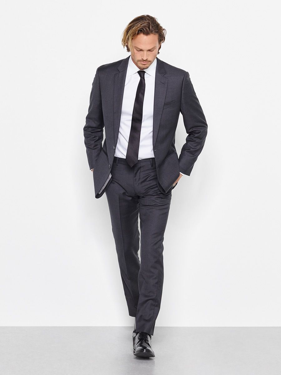 The Black Tux - Charcoal Suit | traje joni | Pinterest | Black tux ...