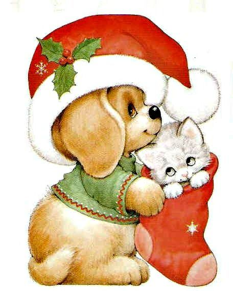 Image Result For Cute Christmas Animals Clipart Happy Holidays