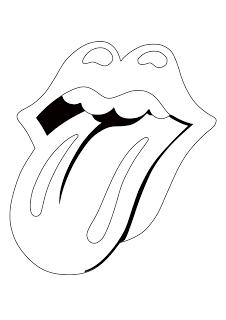Rollingstones Logo Dibujos Para Colorear Pintar