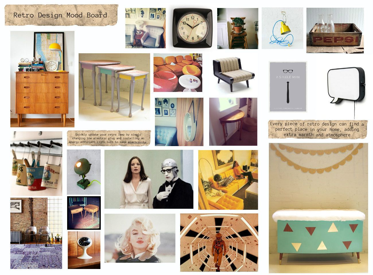 Pin by Mrs Gallacher on Mood Boards   Mood boards, Retro ...