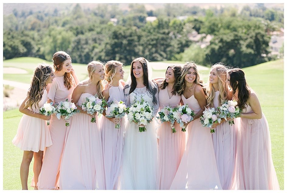 Love In Lace At The North Ranch Country Club Bridesmaid Hair