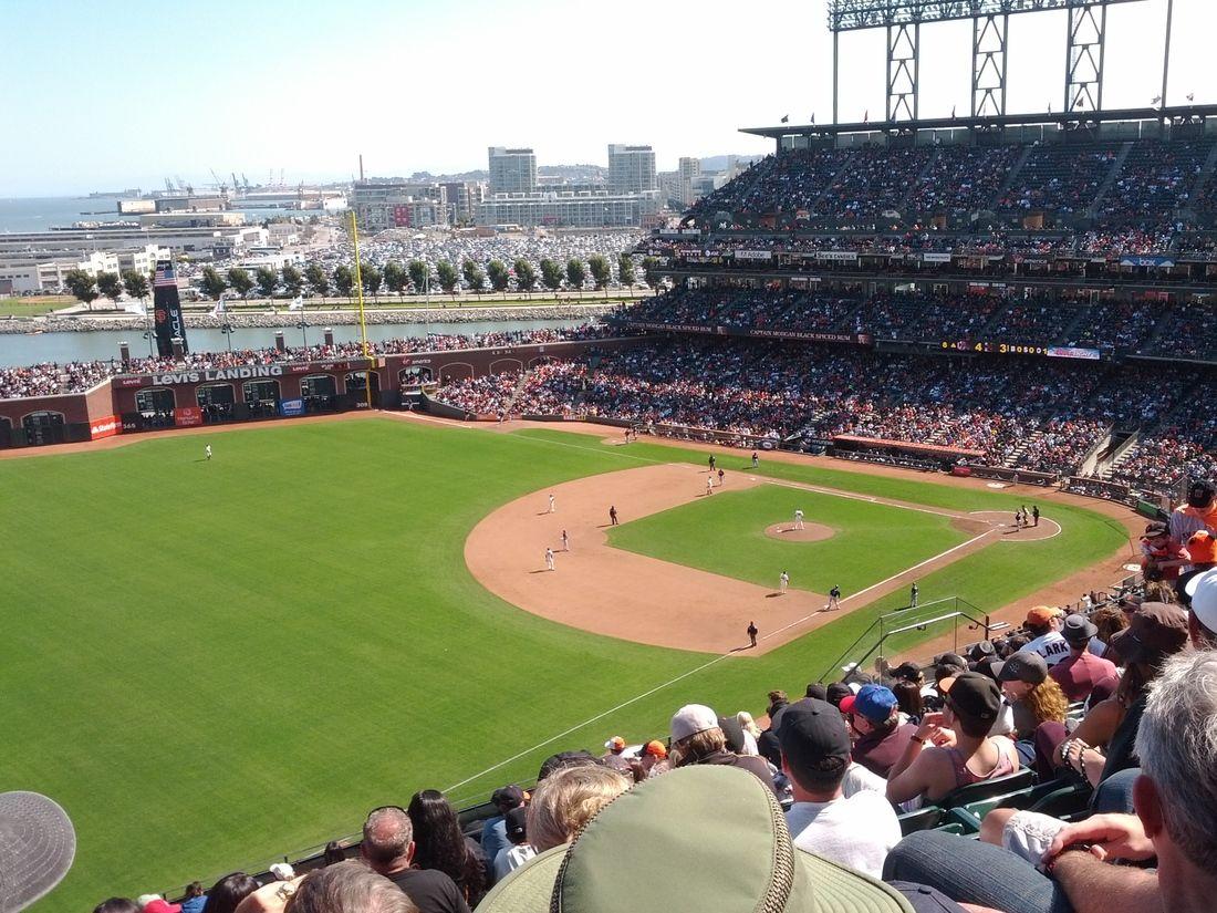 AT Park, Atlanta Braves vs. San Francisco Giants, 8/25/12, top of the eighth