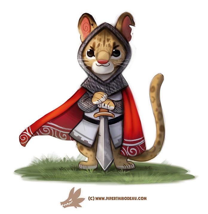 Daily Paint 1278. Sir Ocelot, Piper Thibodeau on ArtStation at https://www.artstation.com/artwork/eVYW3