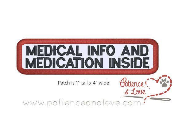 1 Patch Sew On 4 Door 1 Inch Rechthoek Medische Info En Etsy Patches Service Dog Patches Service Dogs Gear