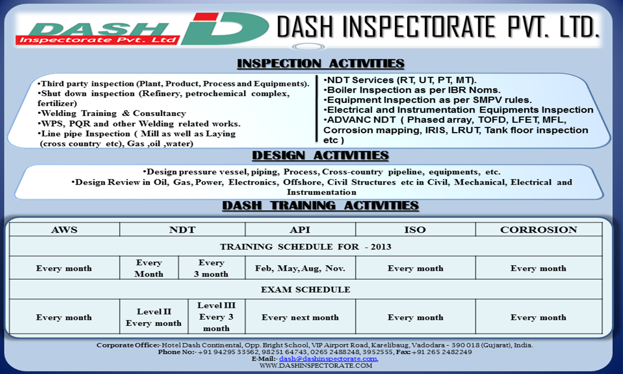 NDT Training Services in Dubai, Dammam, Alkhobar, Abudhabi