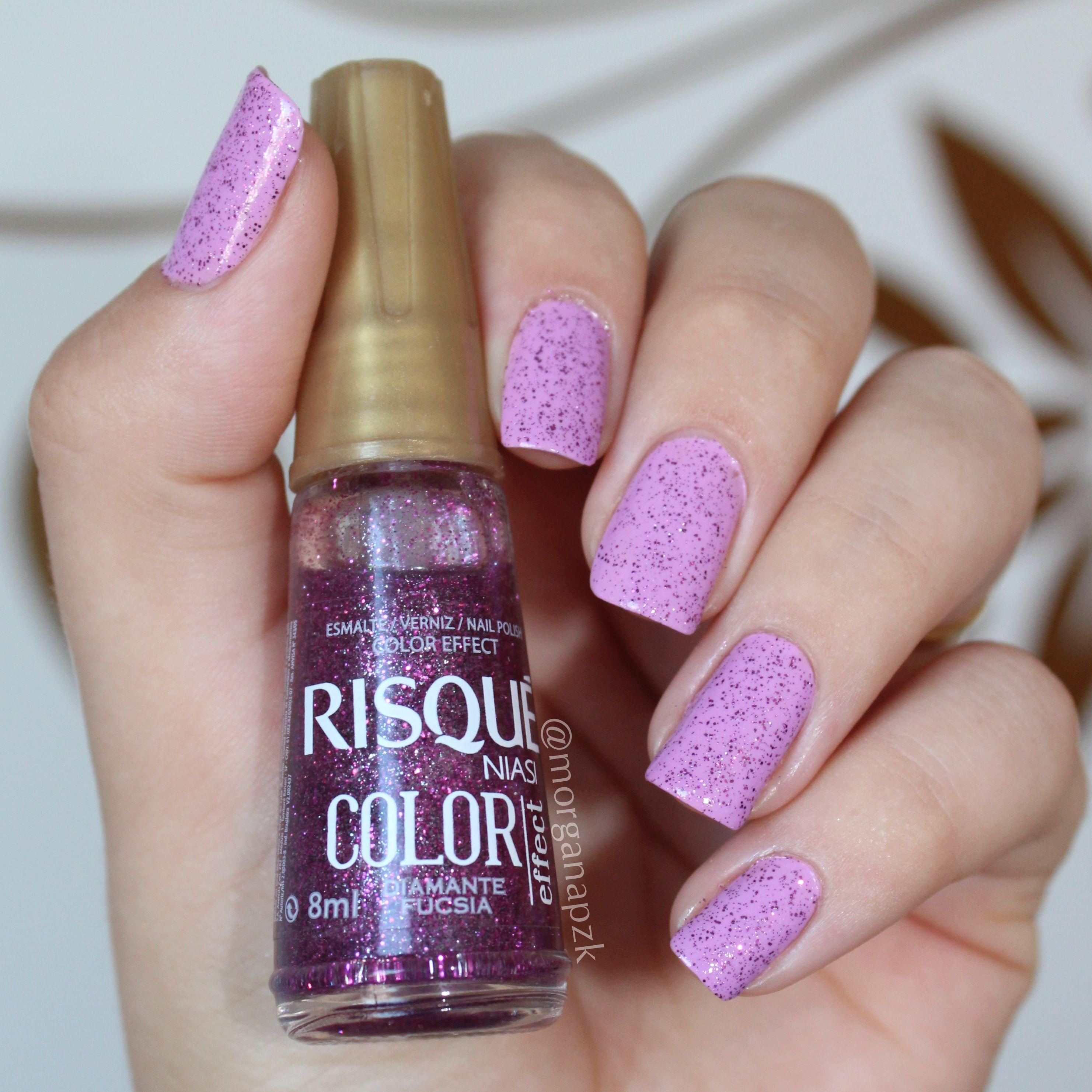 Lilac nails. Nail art. Nail design. Glitter. Uhas lilás. Zazá Ellen ...