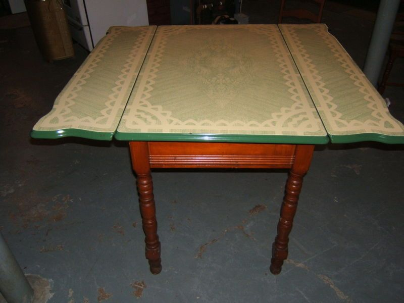 Details About Vintage Kitchen Table And 4 Chairs From The