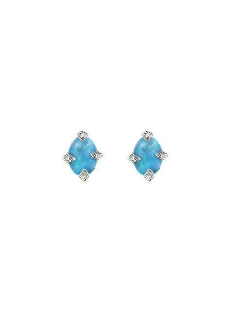 Ylang 23 Cathy Waterman opal and diamond earrings