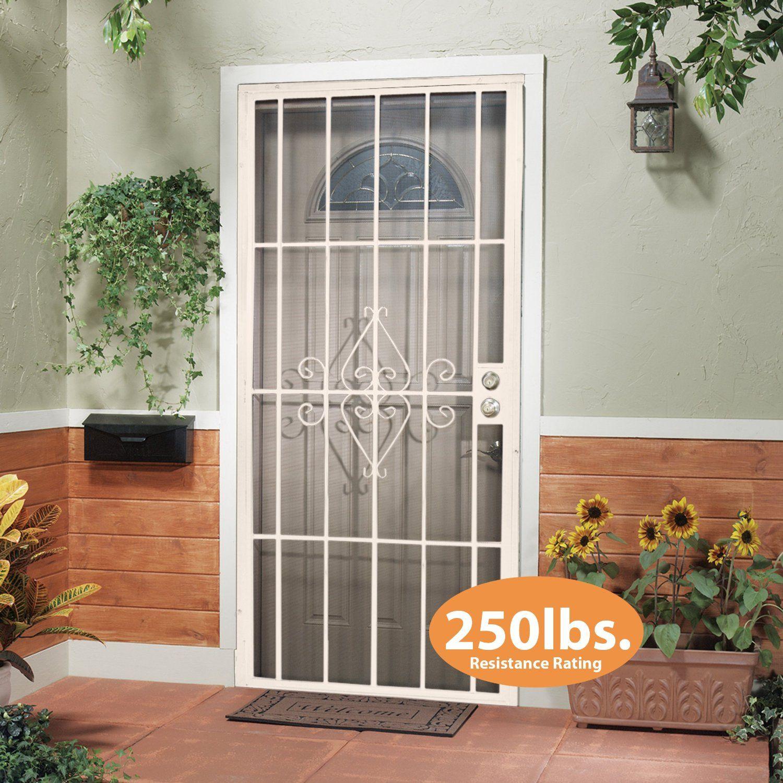 Leslie Locke 50732X80NW Laguna 32 Inch By 80 Inch Security Storm Door