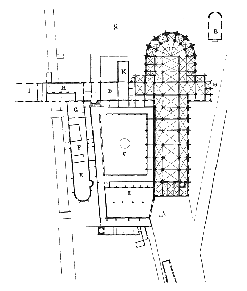 Plan of pontigny 39 s abbey monasteries floor plan and for Dictionnaire architecture