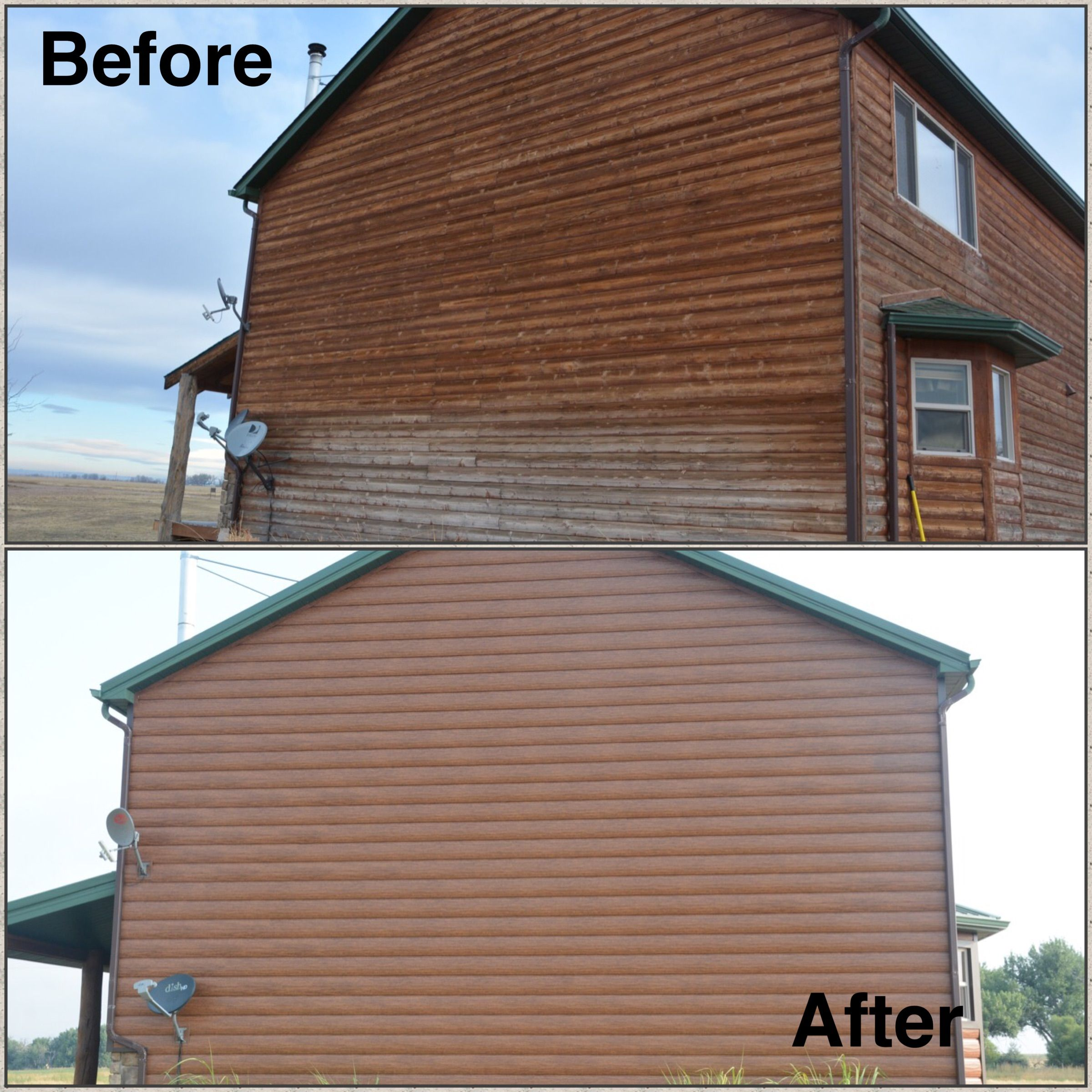 Red Cedar Home In Colorado Real Wood To Maintenance Free Steel Log Siding Log Siding Cedar Homes Steel Siding