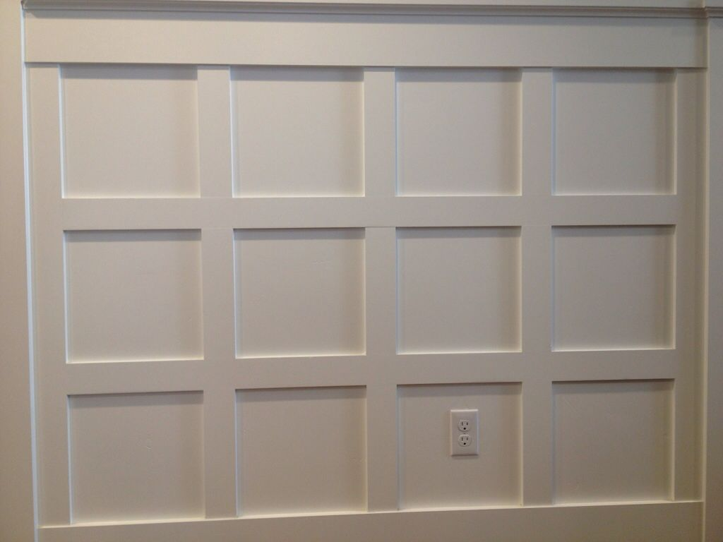 The Shaker Style Wainscoting With
