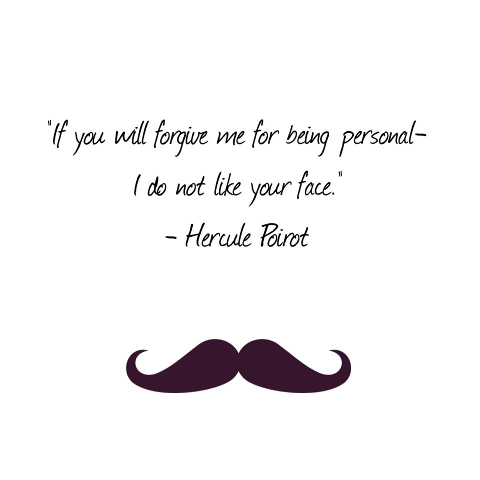Quote Express Stunning Murder On The Orient Express Poirot Quote Geek  Pinterest .