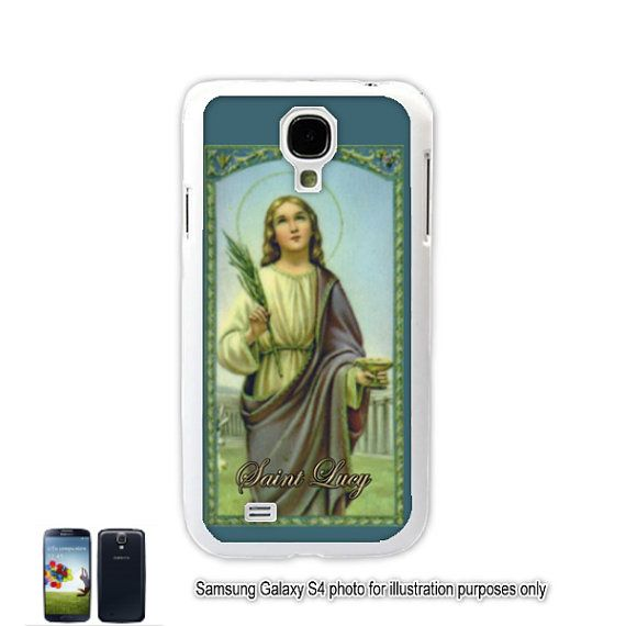 Saint St. Lucy Galaxy S4 S5 Case Samsung Galaxy S3 Cover Note 2 Shell Cover Skin Bumper Samsung Galaxy Note 3