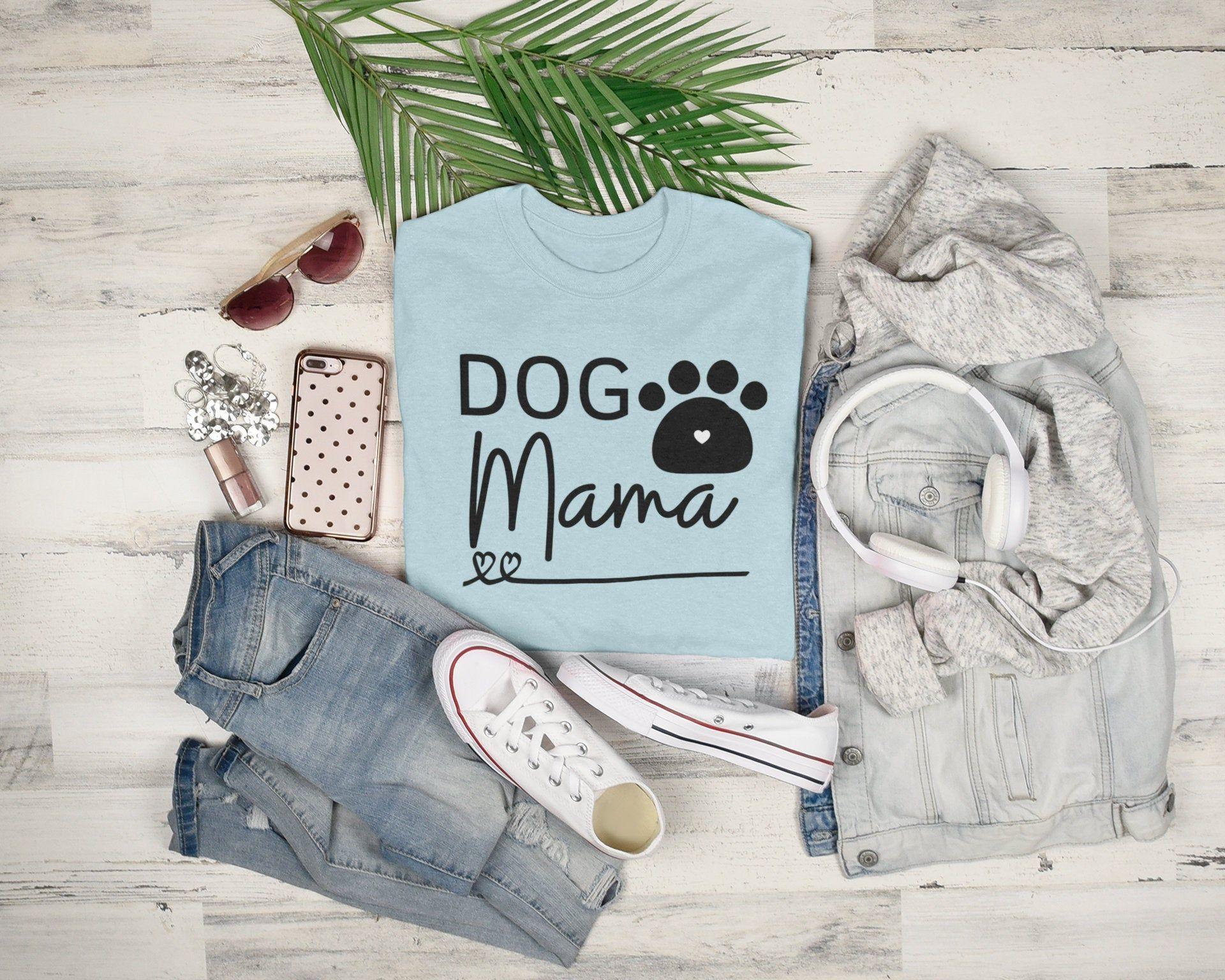 Dog Mama Tee Dog Moms Women's Graphic T Shirt Gift | Etsy in 2020