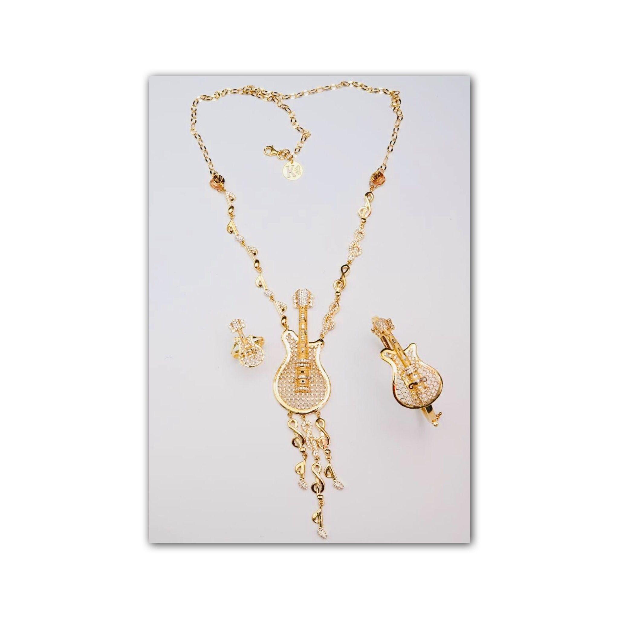 Isagha نصف طقم ذهب عيار 21 Gold Necklace Gold Jewelry