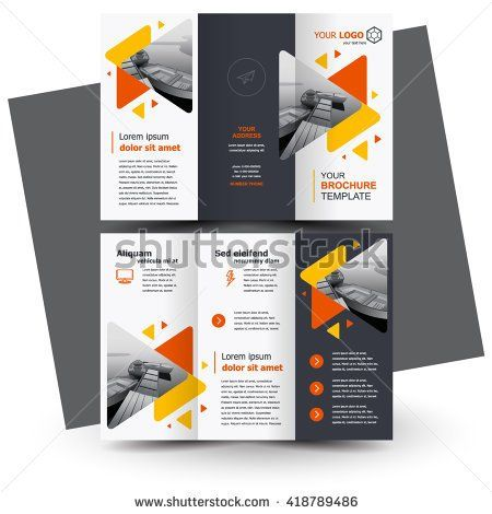 Brochure Design Geometric Abstract Business Brochure Template