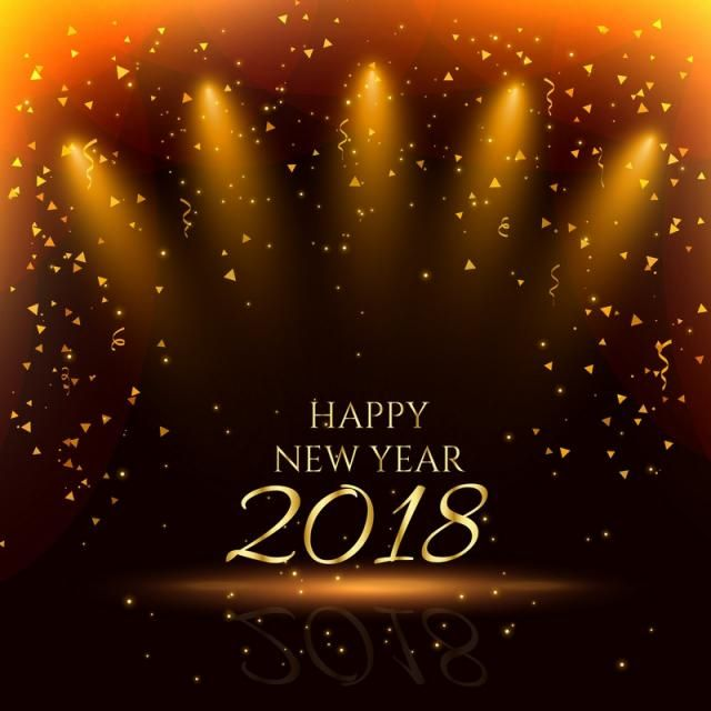 Amazing 2018, New, Year, Happy, Eve, Event, December, Card,