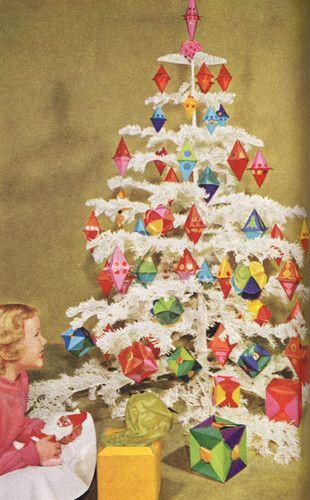 1966 Mid Century Modern Christmas Decor Crafts Book Eames Era on