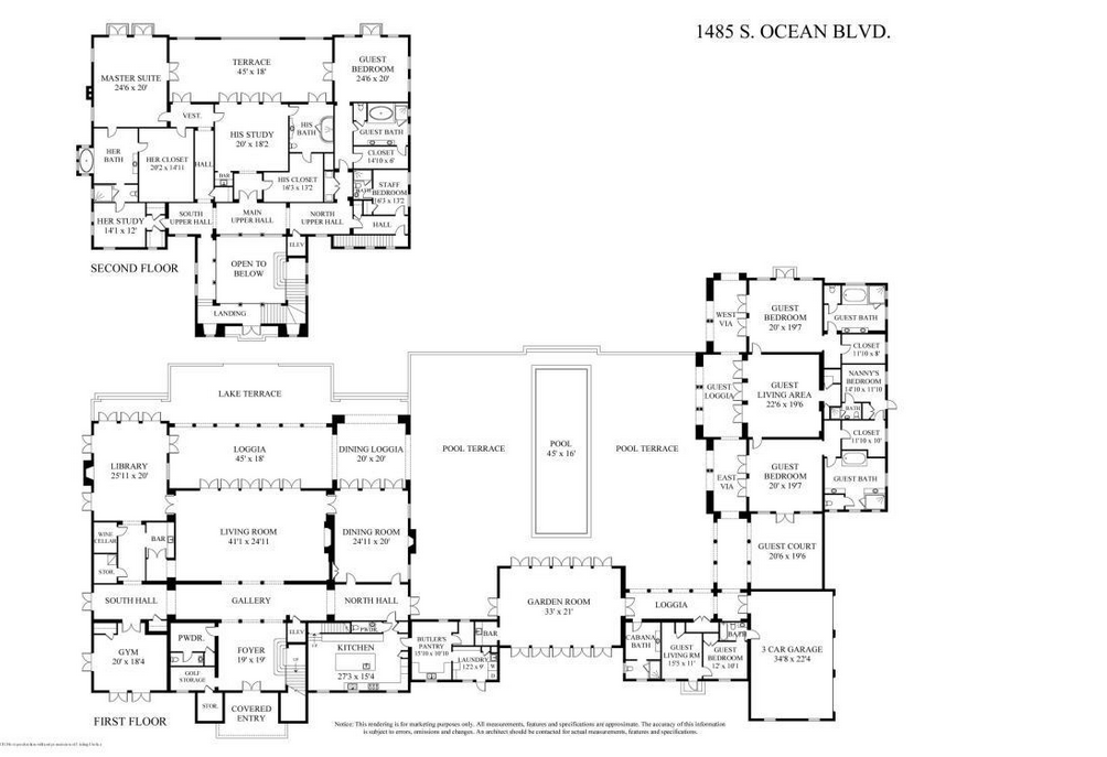 Location 1485 s ocean boulevard palm beach fl square for Ocean house plans