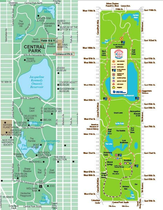 map of central park printable