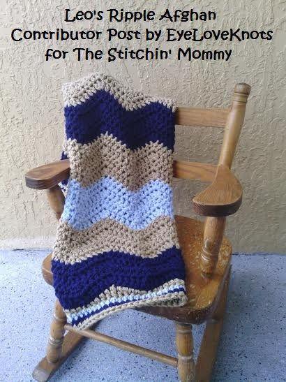 Leo\'s Ripple Afghan - Free Crochet Pattern | Labores, Manta y Tejido