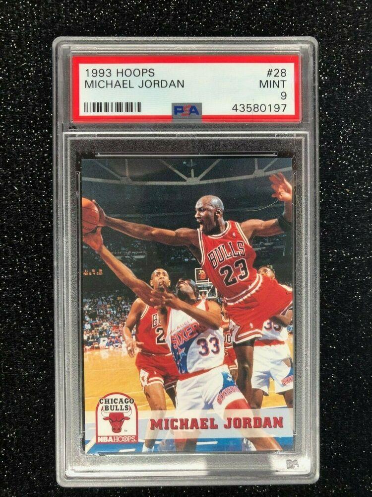 Details about 1993 Hoops Michael Jordan 28 Basketball