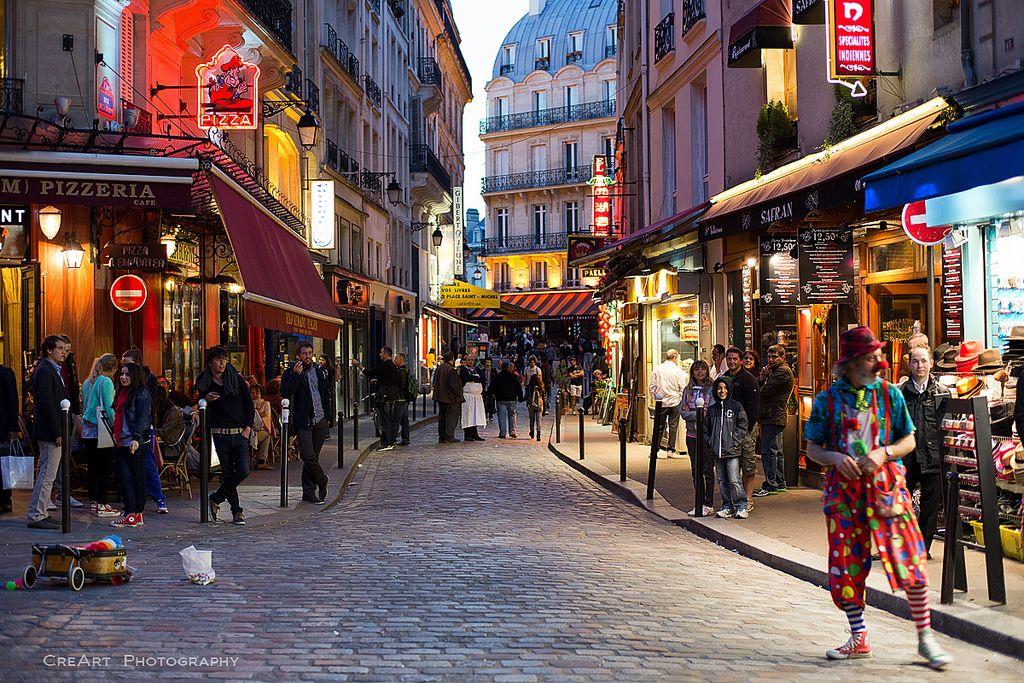 """""""Vida Nocturna"""" rue de la Harpe, Saint-Michel, Paris 05"""