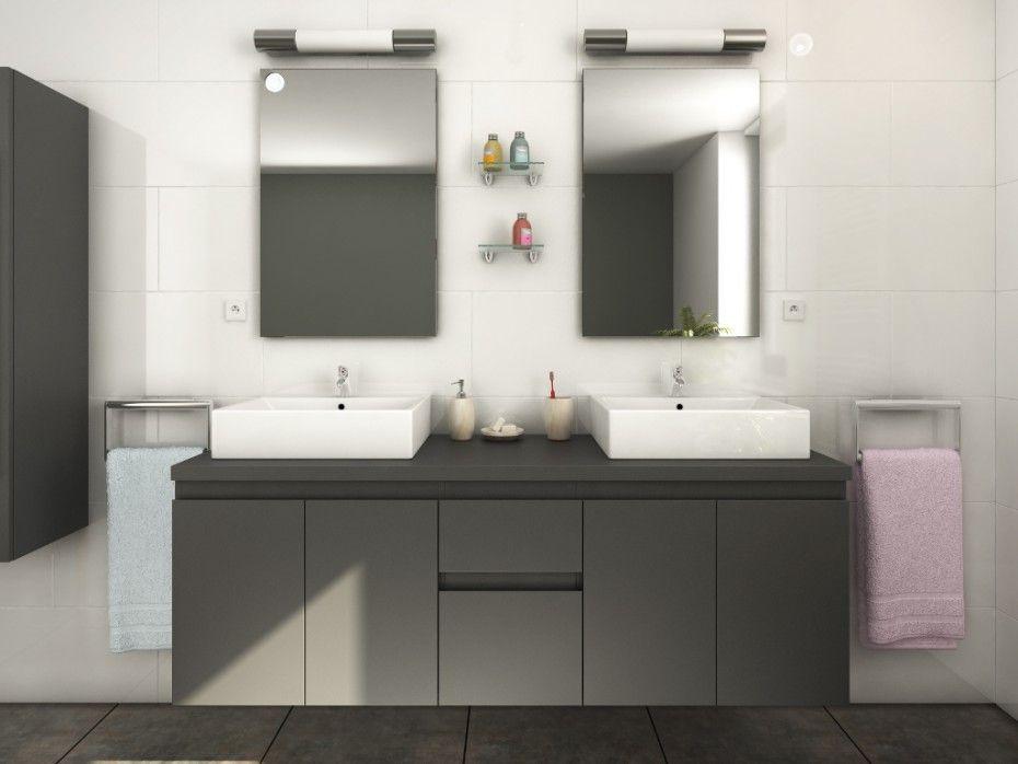Ensemble double vasque LAVITA n°7   salle de bain   Pinterest ...