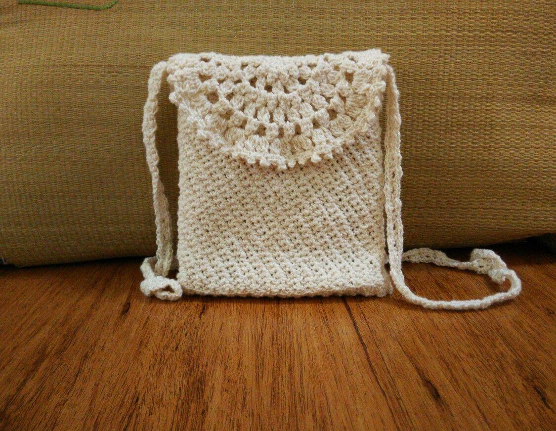 Sling bag crochet - Linen Cotton Sling Bag
