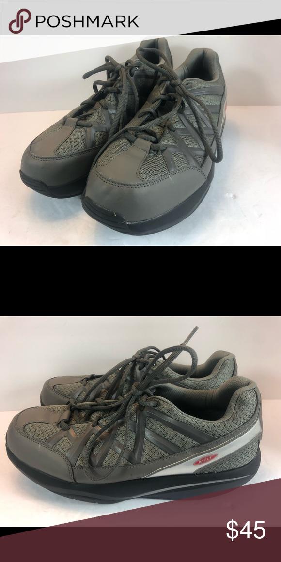 6881abf7cda0 Mens MBT Sport 3 Gray Leather Mesh SzUS 10-10.5 Mens MBT Sport 3 Gray  Leather   Mesh Size US 10-10.5 400334-133 SHOES Fitness Hmatt xpst MBT  Shoes Athletic ...