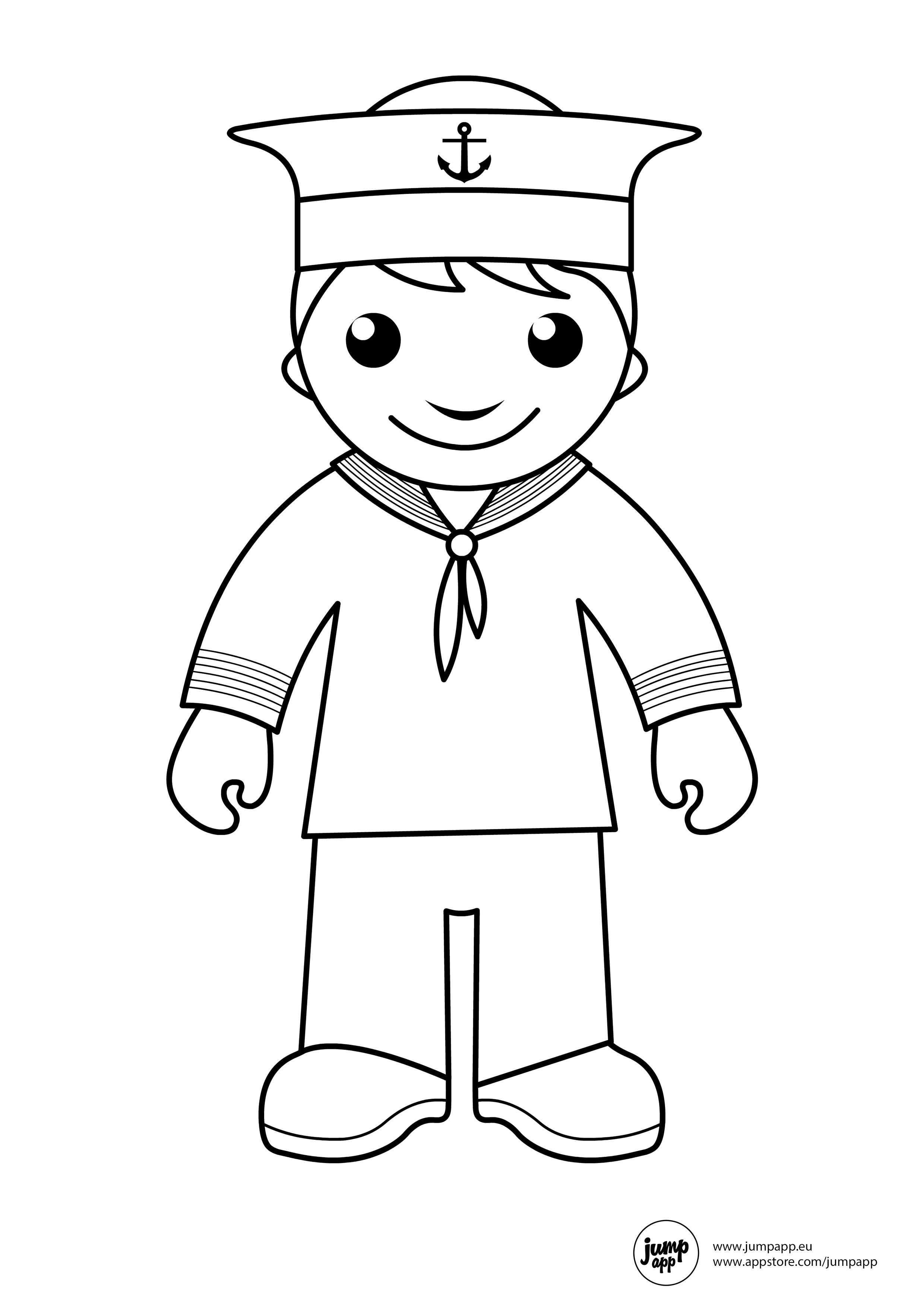 sailor | Printable Coloring Pages | Pinterest | Profesiones