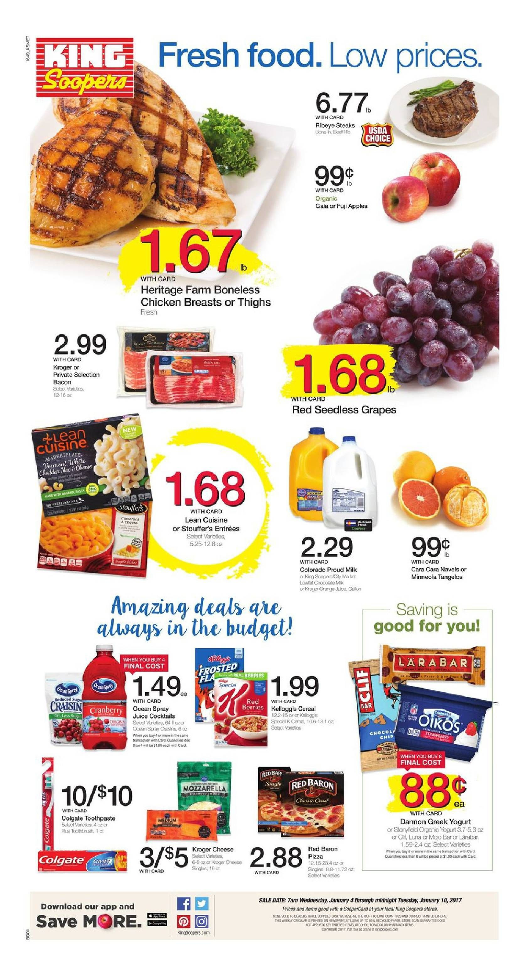 King Soopers weekly ad January 4 - 10, 2017 - http://www.olcatalog ...