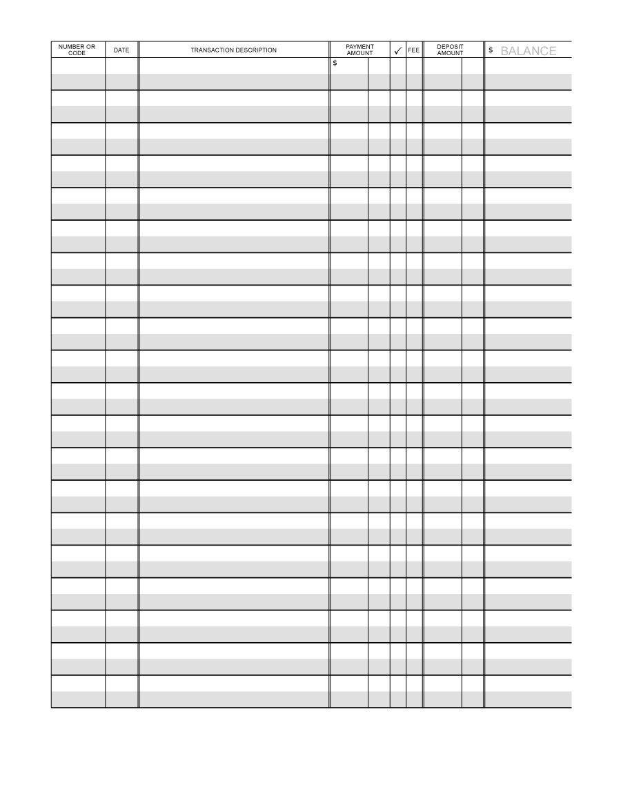 Download Checkbook Register 02 Printable Checks Printable Check
