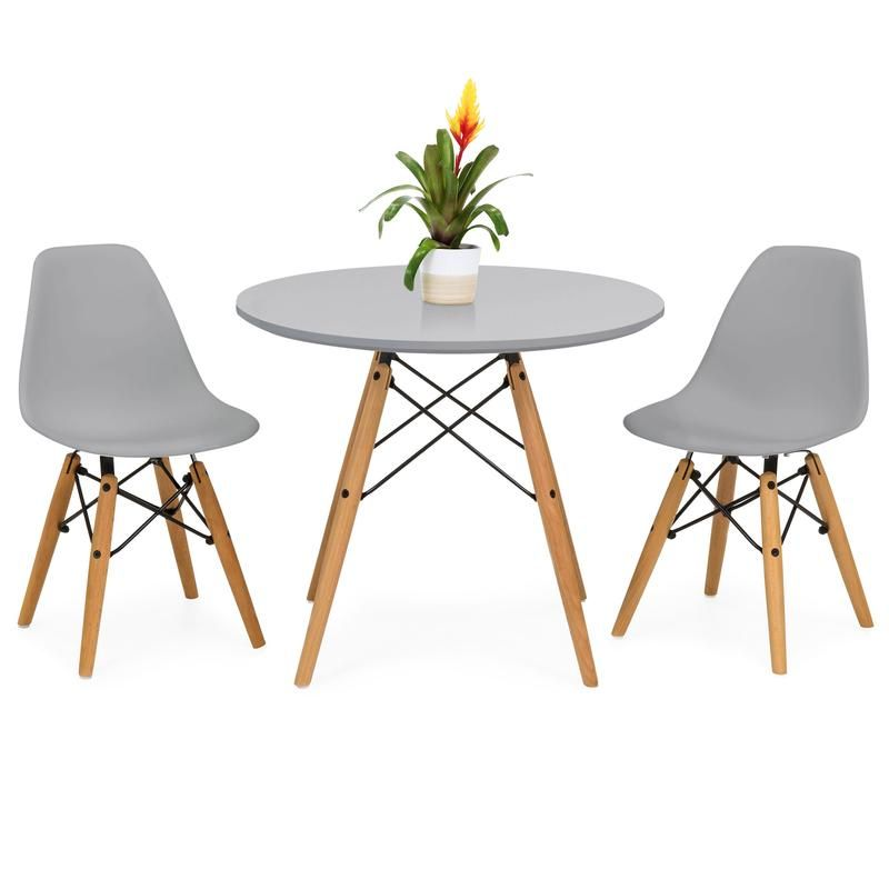 Kids Modern Dining Table Set W 2 Armless Chairs In 2020 Modern