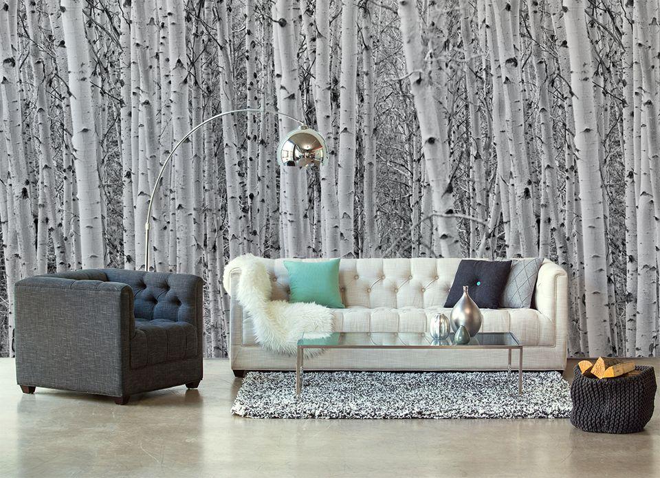 Wallpaper Sticker GREY FOREST By Sticky