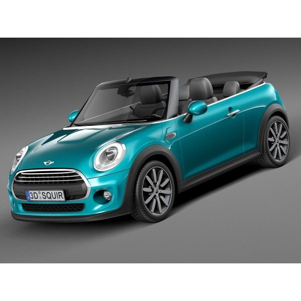 Mini Cooper Convertible 2016 3d Model