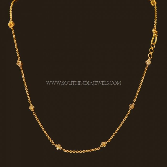 Gold designs in chain
