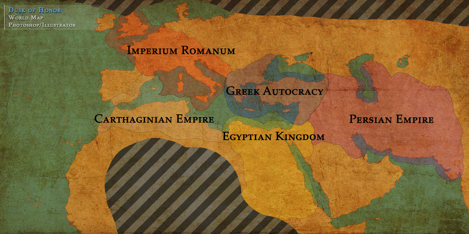 (WIP) World Map of an Action Real Time Strategy game in development.