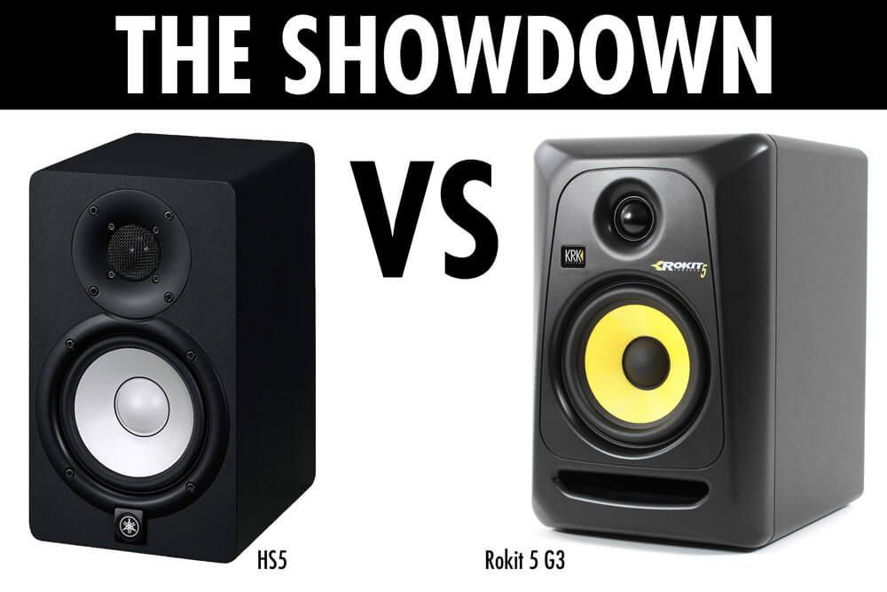 yamaha hs5 vs krk rokit 5 clear winner studio