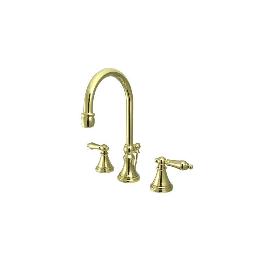 Madison Widespread Bathroom Faucet with Metal Lever Handle ...