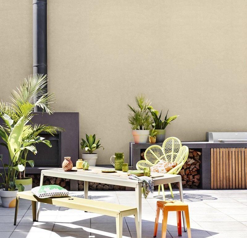 Prächtig Gartenmauer in Sandfarbe streichen - fröhliche Farbgestaltung Idee &HG_52