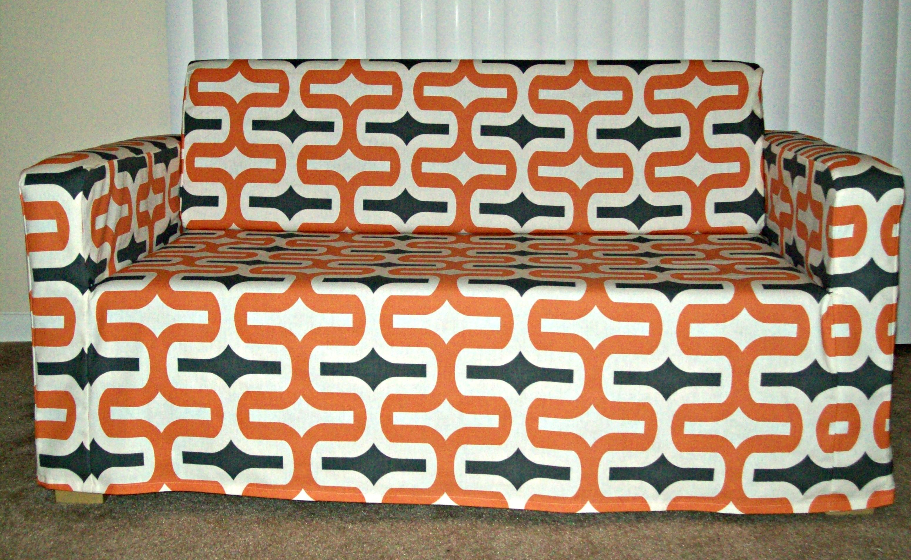 Superb Custom Cover Made By Roozimsy.com For The IKEA Solsta Sofa Bed In Embrace  Apache Macon Fabric Pattern.